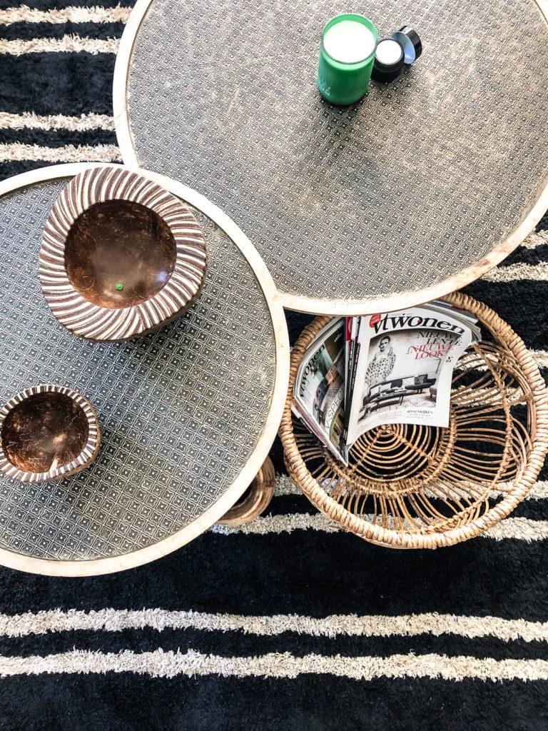 close up vloerkleed en salontafels
