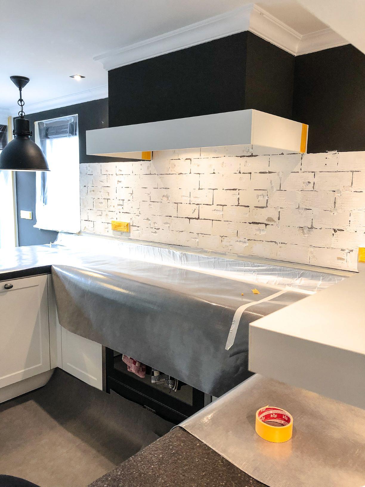 keuken klaar voor brick wall