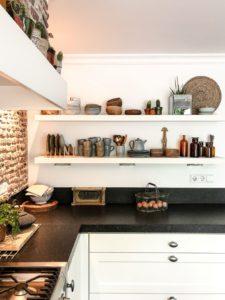 Een echte brick wall in de keuken
