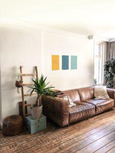 flexa kleurvlakken op muur